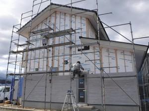 新築住宅の外壁サイディング張り