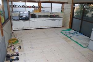 台所の床の張替え