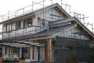 新築工事:外壁サイディング張り施工
