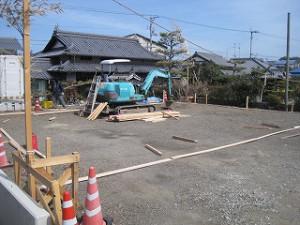 新築住宅の基礎工事への着工準備