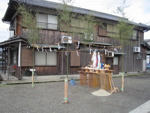 新築事務所工事の地鎮祭