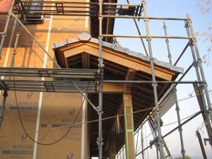 新築住宅の屋根瓦葺き