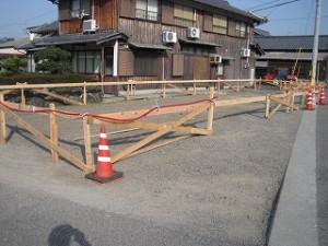 新築工事の基礎丁張り