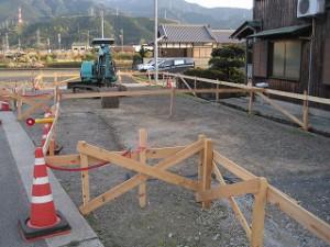 新築事務所の基礎工事