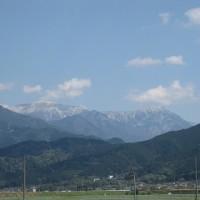 山に雪が掛かってます!