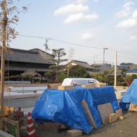 建前・上棟の準備作業
