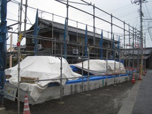 新築の事務所の建前・上棟準備