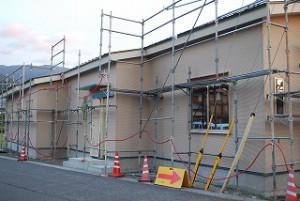 新築事務所のサイディング張り工事