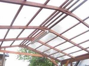 車庫・テラスの修繕補強と波板張替え