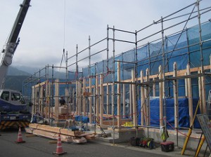 新築事務所の建前・上棟