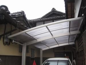 カーポート屋根の取付工事