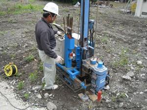 新築予定地の地盤強度の調査