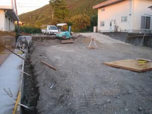 新築住宅の敷地造成工事