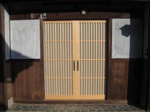 木製建具の入れ替え