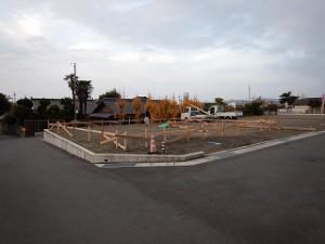新築住宅の基礎丁張り