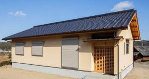 軒先木部の在来 平屋建て和瓦葺き