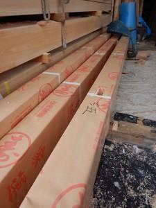 木造平屋建ての建前・上棟