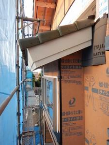 屋根瓦葺き