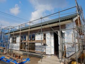 新築住宅の外壁施工