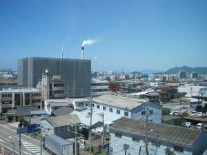 四国中央市市役所からの風景