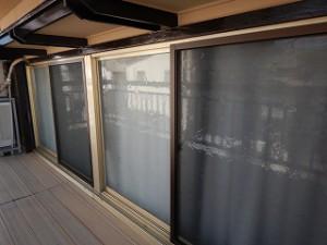 窓の網戸・格子取替え