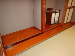 座敷の床の間床張替え