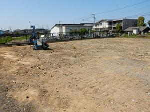 新築工事の地盤整地