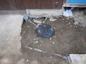 トイレ便槽の入れ替え
