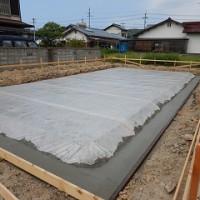 新築住宅の基礎工事着工
