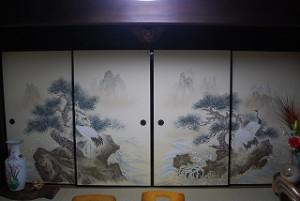 旧家の襖絵