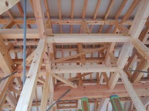 平屋建て新築住宅の建前・上棟