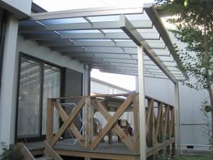 ウッドデッキ・テラス屋根取付