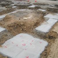 店舗新築工事の基礎梁
