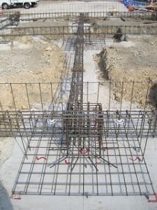 基礎梁の配筋検査