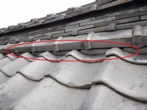 和瓦屋根の修理