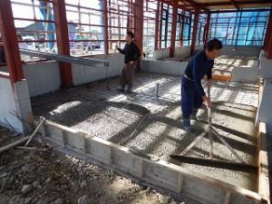 鉄骨建屋の工事状況