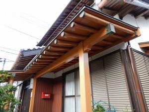 和風住宅の外壁の塗替え工事