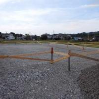 新築基礎工事の着工
