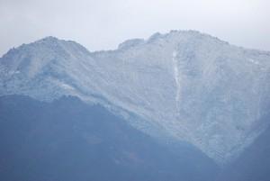 黒森山の積雪