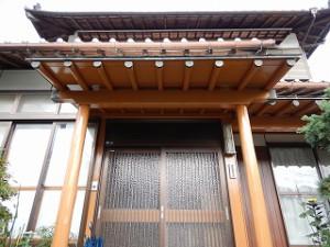 和風住宅の外壁塗装