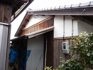 外壁腰板の焼杉板の塗装工事