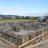 木造平屋建て住宅の基礎工事