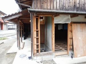 農業用倉庫の住宅化改修リフォーム工事