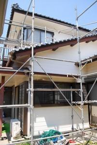 外壁塗装塗替え現場