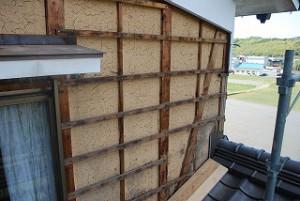 外壁焼杉板の張替え
