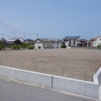 平屋建て新築住宅の敷地造成工事