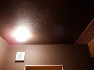 木造平屋建て住宅の照明器具付け