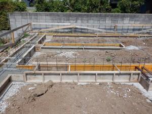 倉庫新築基礎工事