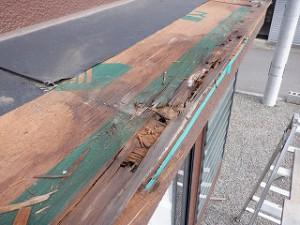 出窓屋根雨漏り修理