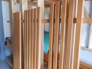 木製の窓格子